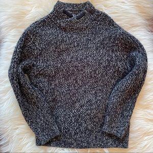 Zara boys chunky marled navy sweater size 7
